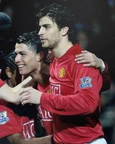 Cristiano and Pique Manchester United