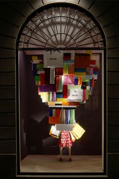 Moschino window. This would make a great Christmas window idea.