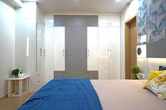 HomeLane: Full Home Interior Design Solutions, Get Instant Quotes. Beautiful Houses Interior, Beautiful Interiors, Modular Wardrobes, Wardrobe Storage, Free Interior Design, Wardrobe Design, Space Saving, Living Room Designs, House Design