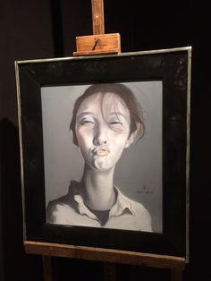 An Kun, 'Kissing Portrait/Selfie', oil on canvas. Collection www.kunstbroeders.com