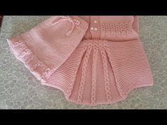 Kahve Çekirdeği Yelpaze Yelek/Hırka modeli - YouTube Shrug Knitting Pattern, Cardigan Pattern, Baby Knitting Patterns, Knitted Baby Cardigan, Baby Pullover, Pullover Design, Sweater Design, Knitting Videos, Crochet Videos