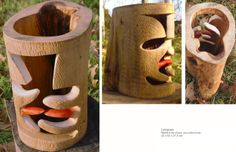 Lenguas Madera de chopo con policromia 32 x 42 x 27, 5 cm