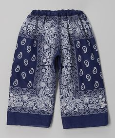 Take a look at the Blue & White Bandanna Pants - Toddler & Girls on #zulily today!