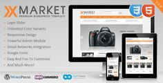 XMarket - Responsive WordPress E-Commerce Theme (eCommerce)