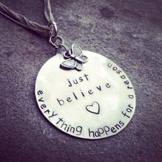 Personalized Disc Tag Necklace (1) with one charm of your choice on Etsy, $22.00 #jewelrynecklaces