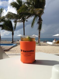 Cozamel Coozie #barcodingspotted (aka where we wish we were today!)