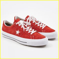 a5cca5bcb0ca Converse One Star Hairy Suede - Red Size