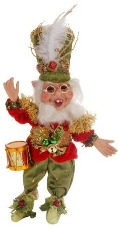 With delightful colors and detail, this elf figurine will add a touch of holiday spirit to your desk, shelf or mantel. Mark Roberts Elves, Mark Roberts Fairies, Christmas Elf, Christmas Ornaments, Xmas, Seasonal Decor, Holiday Decor, Elves And Fairies, Drummer Boy