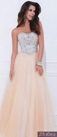 (PRE-ORDER) Tony Bowls 2014 Prom Dresses - Champagne Embellished Strapless Sweetheart Mesh Gown from Unique Vintage. Saved to prom dresses:). Grad Dresses, Pageant Dresses, Dance Dresses, Ball Dresses, Homecoming Dresses, Evening Dresses, Bridesmaid Dresses, Formal Dresses, Wedding Dresses
