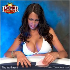 Tina Wallman is an Australian swimmer and model. She is a former spokes model for Carbon Poker. Tina is known as the Queen of Hearts.  #poker #babes