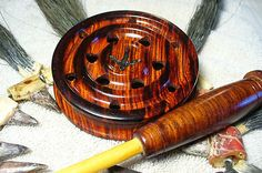 CUSTOM COCOBOLO SLATE OVER GLASS TURKEY CALL  WITH CUSTOM STRIKER (NICE)