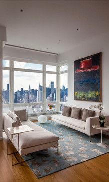 upper east side penthouse midcentury living room