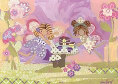 Oopsy daisy Fairy Tea Time Stretched Canvas Wall Art by Winborg Sisters 14 by 10Inch ** Continue to the product at the image link.
