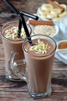Health Snacks, Health Eating, Chocolate Milkshake, Health Cleanse, Risotto Recipes, Cooking Recipes, Healthy Recipes, Yummy Drinks, Breakfast