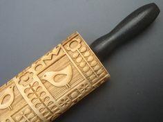 Wooden Embossing Rolling Pin - Scandinavian Pattern