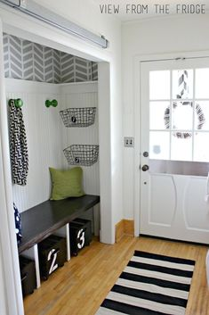 Front Hall Closet Bench Entryway Redo Remodel