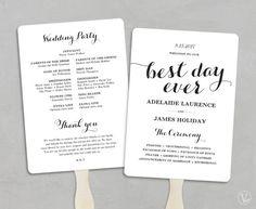 FREE Printable Wedding Program | wedding invits | Pinterest ...