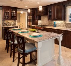 Elegant Fishtail Mullions Really Make This Kitchen Stand Out.