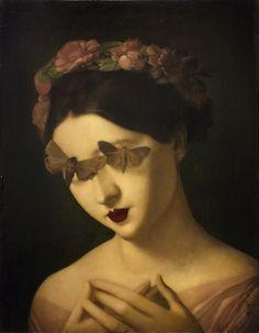 'Madame Honeysuckle' by Stephen Mackey Gothic Aesthetic, Aesthetic Art, Dark Art Illustrations, Illustration Art, Pop Surrealism, Weird Art, Gothic Art, Renaissance Art, Surreal Art