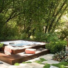 Patio Paver Hot Tub Surround Design Ideas, Pictures, Remodel, and Decor - page 2