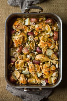 Chicken with Olives, Garlic, Lemon and Potatoes Recipe