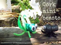 Me and my shadow: More cork crafts - mini-beasts and boats