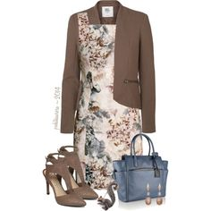 Sleeveless Floral H&M Dress by pwhiteaurora on Polyvore featuring мода, H&M, Vero Moda, Jessica Simpson, Reed Krakoff and Donald Huber