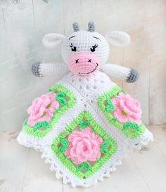 PATTERN, Crochet Security Blanket, Cow Amigurumi Crochet Pattern, PDF file pattern, Cow Toy, Snuggle Toy, Baby Blanket, Blankey. ENG. Cow Toys, Manta Crochet, Crochet Lovey, Crochet Cow, Blanket Crochet, Baby Security Blanket, Crochet Security Blanket, Crochet Animals, Snuggle Blanket
