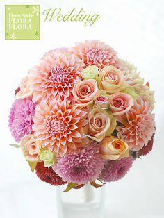 Wedding ブーケ 和装 : FLORAFLORA*precious flowers*ウェディングブーケ会場装花&フラワースクール*