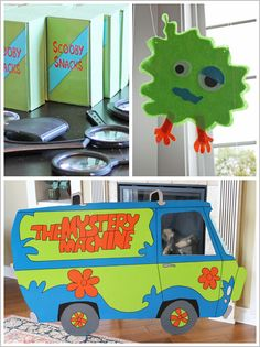 Super cute, but a little over the top. I definitely don't have this much time. Good for ideas though. Scooby-Doo! Birthday  Cake, Desserts, Paintings & Party Styling:  Summer Stone  Photography: Jessica Harris