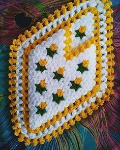 Crochet Potholders, Knit Crochet, Baby Knitting Patterns, Blanket, Crafts, Headband Crochet, Daisies, Rugs, Craft