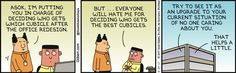 Asok Is In Charge Of Cubicle Move - Dilbert by Scott Adams