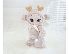 Craft Packaging, Unicorn Cat, Baby Deer, Amigurumi Toys, Handmade Toys, Crochet Toys, Baby Toys, Hand Knitting, Unicorns