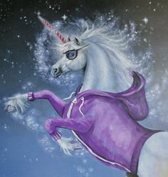 Hipster Unicorn Rides Again by autogeography - Laura Best - on Etsy