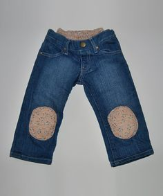 Take a look at this Pink Flower Squeaker Jeans - Infant by Squeeky Knees on #zulily today!