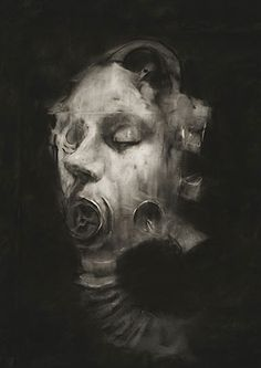 the sensory war 1914-2014 - manchester art gallery, 2014-15 [exhibition oct 2014-feb 2015; gas mask - sophie jodoin, 2008 from the series 'helmets and gasmasks', 2007-9]