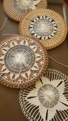"Sometimes called ""Petite Point"" needle lace. Sometimes called ""Petite Point"" needle lace. Tenerife, Yarn Crafts, Diy And Crafts, Arts And Crafts, Needle Lace, Bobbin Lace, Easy Crochet, Crochet Lace, Russian Crochet"