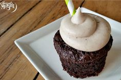 Chocolate Stout Cupcakes With Irish Cream Frosting [Vegan] - What's St. Patrick's Day without a cupcake with beer in it?!