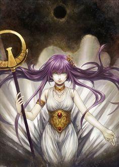 Image de Athena, Kido Saori de la série Saint Seiya dessinée par MaMuSya