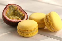 Passion fruit macarons.