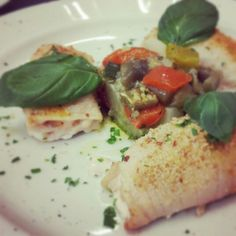 #involtini di #pesce #spada al forno con piccola #caponata