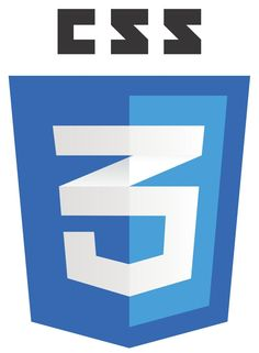 CSS3 Logo - White on Blue Shield and Black Label