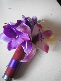 Nate's Shotgun Shell Boutonniere Our Wedding Day, Dream Wedding, Wedding Ideas, Shotgun Shell Boutonniere, 20 Wedding Anniversary, Vows, Flower Arrangements, Bliss, Projects To Try