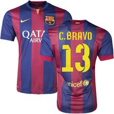 Claudio Bravo  13 Barcelona 15 16 Home Jersey Barcelona Jerseys d1ce21131052d