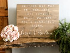 Whimsical Wedding, Elegant Wedding, Wedding Day, Welcome To Our Wedding, Wedding In The Woods, Country Barn Weddings, Wood Wedding Signs, Guest Book Alternatives, Wonderful Things