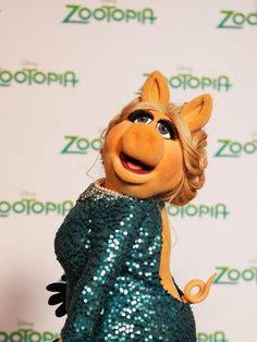 Who else but moi could turn a wardrobe malfunction into a movement? Unveil The Tail. Miss Piggy, April 2016