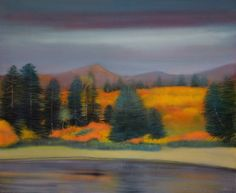 "Thomas Lamb; Oil 2014 Painting ""Autumn by the Lake"""