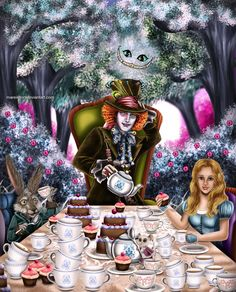 Tea Party. Mad hatter is just awesome. Maybe my crush is due to him being played by Johnny Depp but he's just so awesome <33