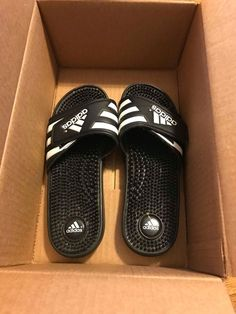 111cba8775a6 Adidas Black Slides Shower Athletic Swim Sandal Womens Size 9. Great  Condition.  fashion