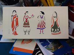 carte découpée main Illustration, Ethnic, Creations, Artisan, Kids Rugs, Concept, Blanket, Brittany, Atelier